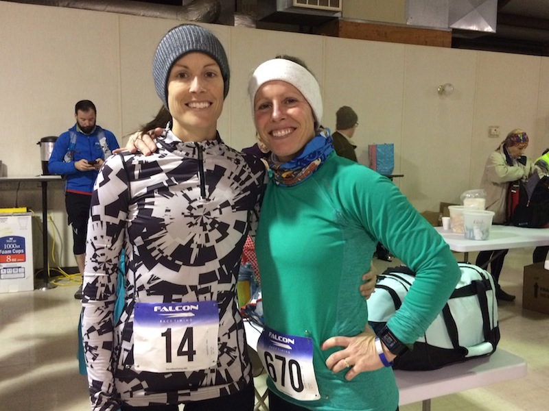 melissa and me before the race